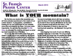 2013 Easter News