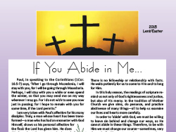 2015 Easter Newsletter