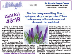 2018 Easter Newsletter